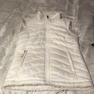 North Face Reversible White Vest